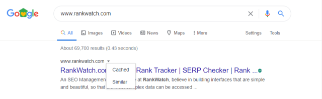 Website indexed by Googlebot