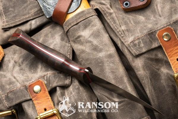Osprey Knife and Tool Raptor handmade knife handle detail on vintage pack