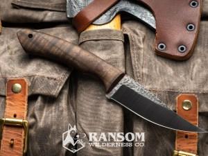 Osprey Knife and Tool Raptor handmade knife on vintage pack