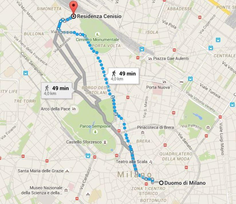 Milano map