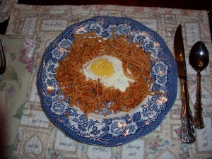Baked Spaghetti & Egg