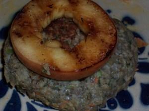 Lentil Burger with Grilled Apple Slice