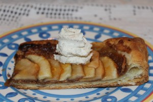 Asian Apple and Pear Tart with Crème Fraîche