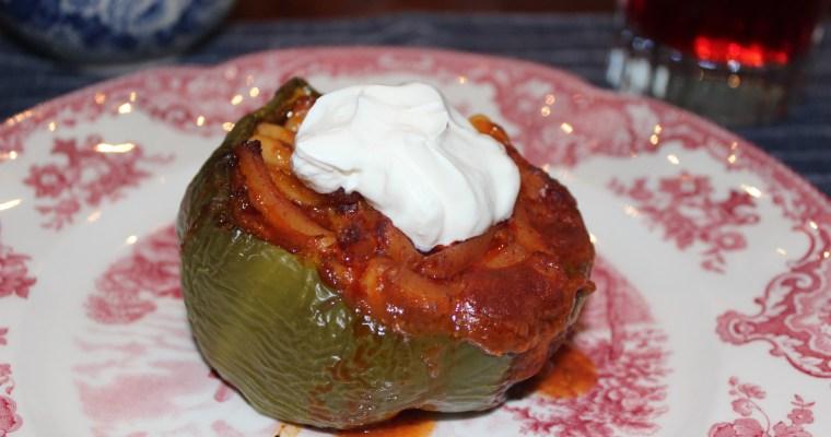 Beefaroni Stuffed Peppers