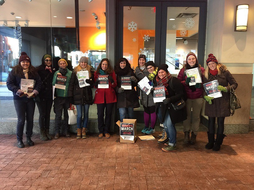 Volunteers from the DC chapter spreading the word. (Photo from: Women's March on Washington-DC Chapter)