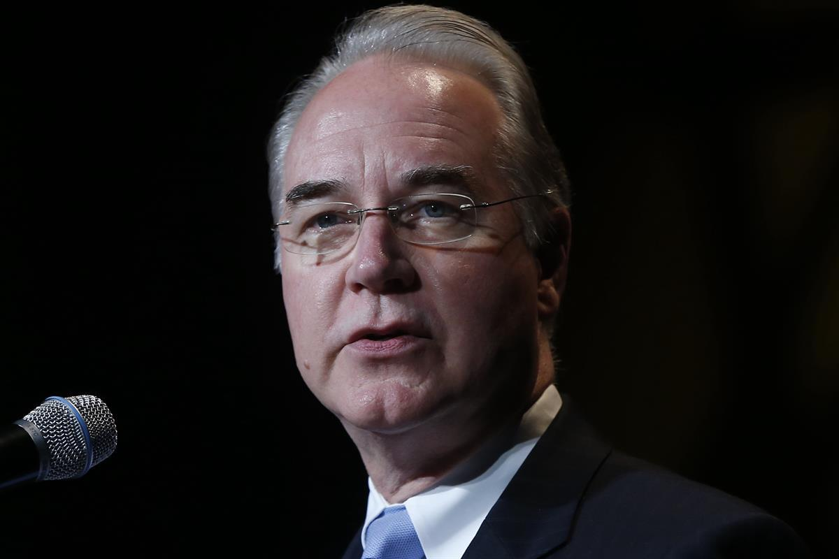 Rep. Tom Price, R-Ga., speaks at the Christians United for Israel Washington Summit in Washington — July 23, 2013. (AP Photo/Charles Dharapak)