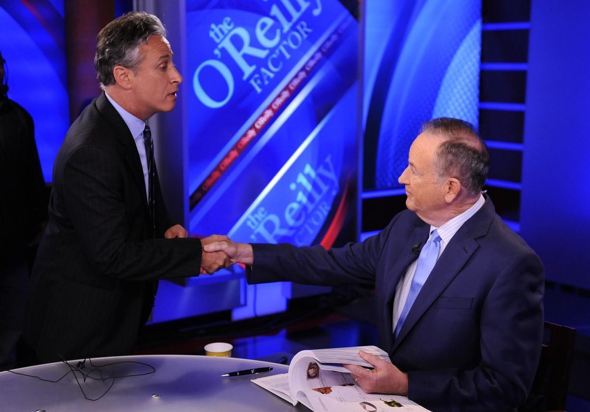Jon Stewart on Bill O'Reilly's Fox News Show <em data-recalc-dims=