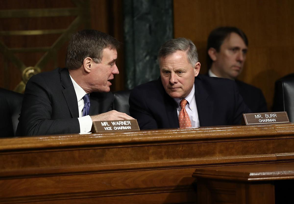Senate Select Intelligence Committee Chairman Sen. Richard Burr (R-NC) and ranking member Sen. Mark Warner (D-VA) (Photo: Win McNamee/Getty Images)