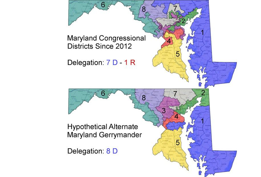 Daily Kos, Maryland District Map Comparisons