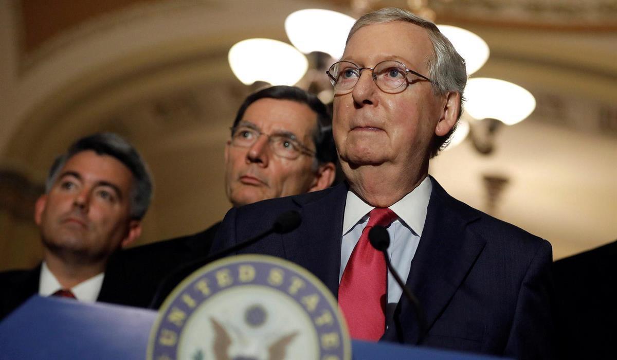 Senate Majority Leader Mitch McConnell (Aaron P. Bernstein /Reuters)