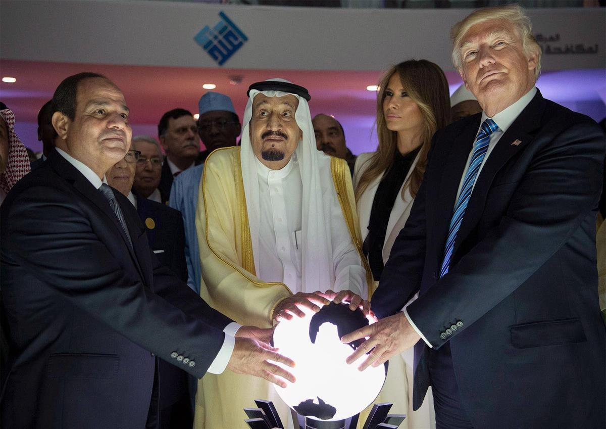 President Abdel Fatah al-Sisi, King Salman bin Abdulaziz, And President Donald Trump (Anadolu Agency/Getty Images)
