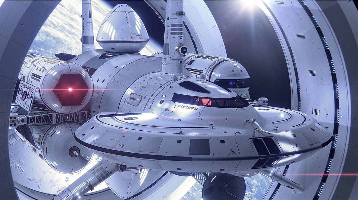 1IXS Enterprise, a proposed warp ship by Harold G. White of NASA Eagleworks (render by Mark Rademaker)