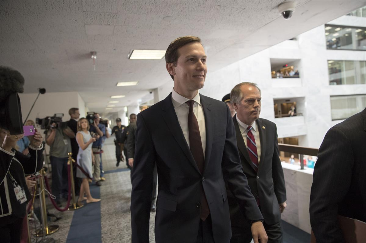 White House senior adviser Jared Kushner arrives on Capitol Hill in Washington, Monday, July 24, 2017, to meet behind closed doors before the Senate Intelligence Committee (AP/J. Scott Applewhite)