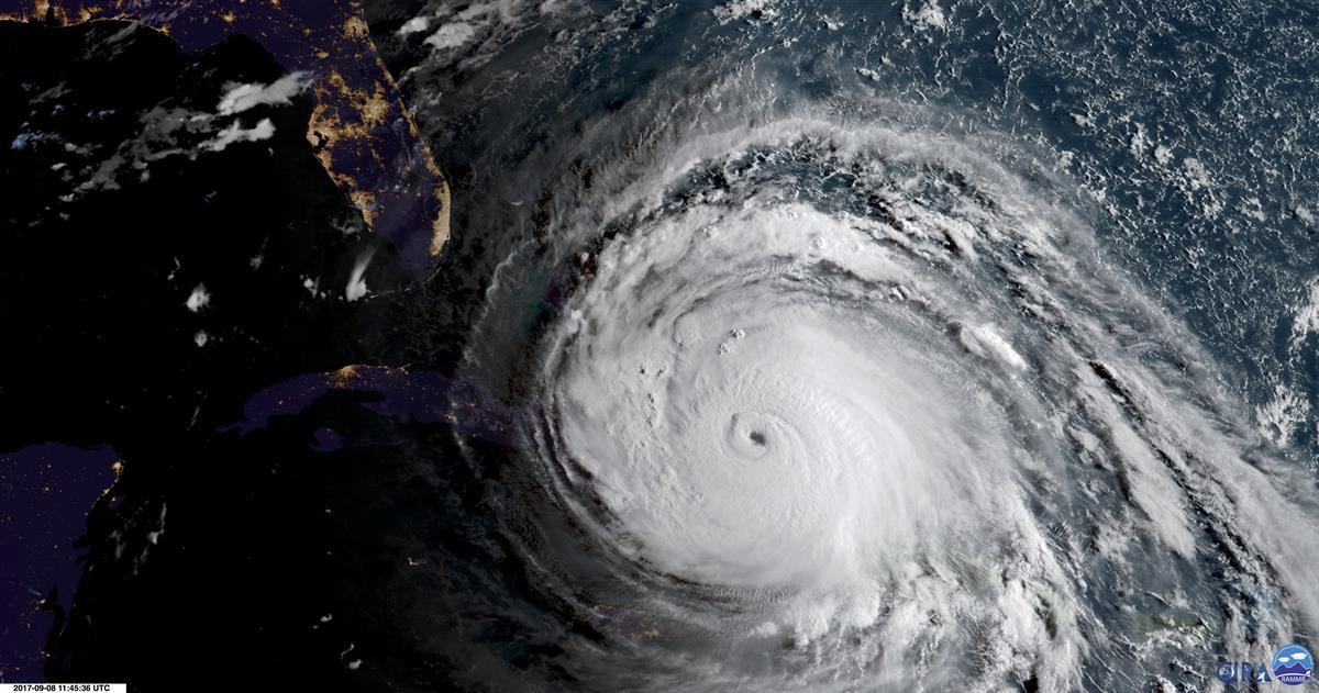 Hurricane Irma as the storm approaches Cuba and Florida after leaving dozens of people dead and thousands homeless on a devastated string of Caribbean islands.—Sept. 8, 2017 (NOAA viaAP)