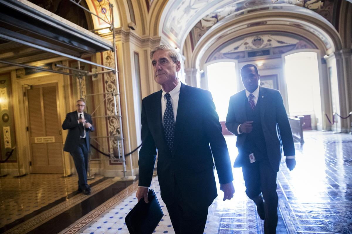 Special Counsel Robert Mueller departs the Capitol after a closed-door meeting with members of the Senate Judiciary Committee about Russian meddling in the election and possible connection to the Trump campaign — June 21, 2017 (AP)