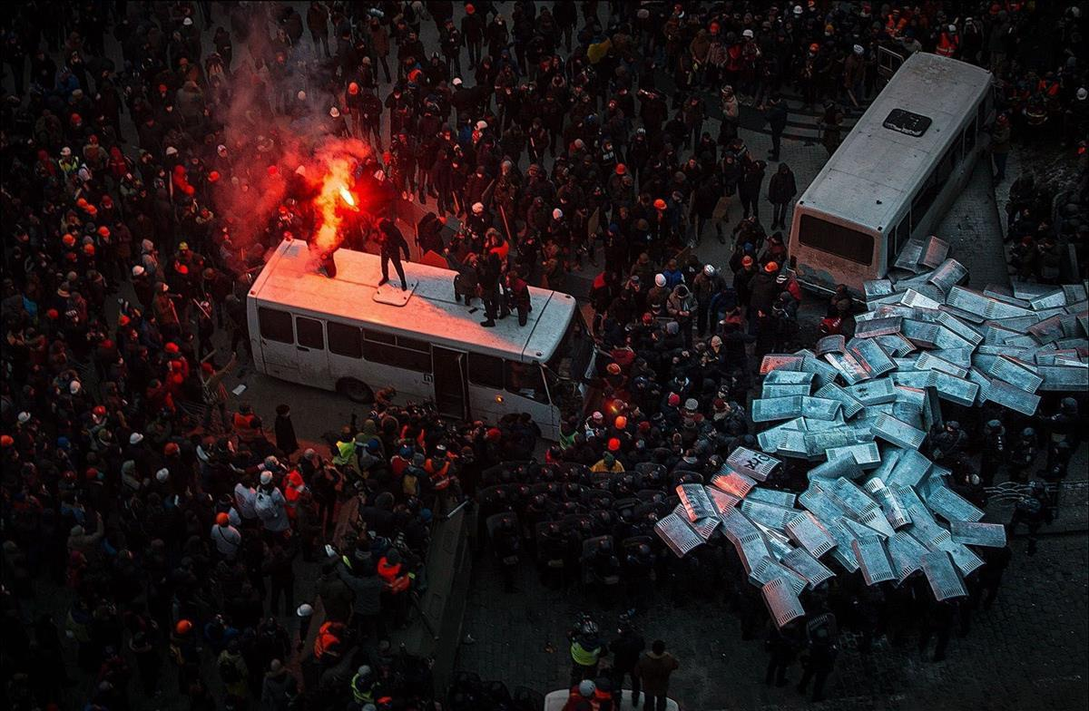 Protests in Kiev's Independence Square, Ukraine, 2014 (Den Didenko)