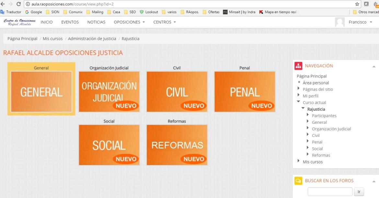 Aula Virtual Oposiciones Rafael Alcalde
