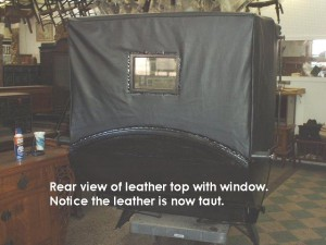 Rear view of leather top
