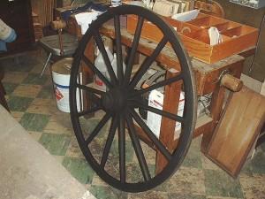 Wheel painted black