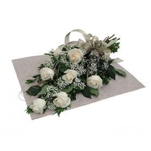 6 Pieces White Elegant Roses
