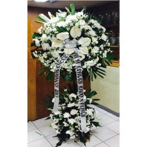 two layer funeral stand