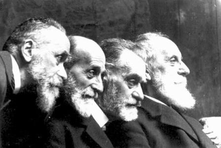 Les quatre frères Abeille - De gauche à droite, Henri, Emmanuel, Charles et Gabriel