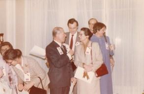 Cousinade Chancel du 21 mars 1981 : Jacqueline Ameil, François Gas, Jean-Paul Arguillière, Marie Huet-Gas, Philippe Gas, Hélène Gas