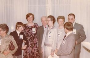 Cousinade Chancel du 21 mars 1981 : Françoise Guillemot, Stéphane Valéry, Madeleine Valéry, Jean Perraud, Marie-Louise Perraud, Geneviève de La Jonquière, Didier Valéry, Pierre de La Jonquière