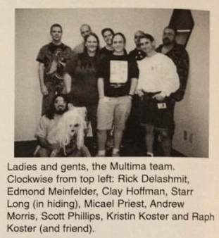 The early UO team, from Nov 3rd 1995's issue of the internal Origin newsletter