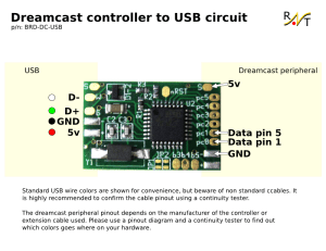 raph technologies  Dreamcast controller to USB circuit