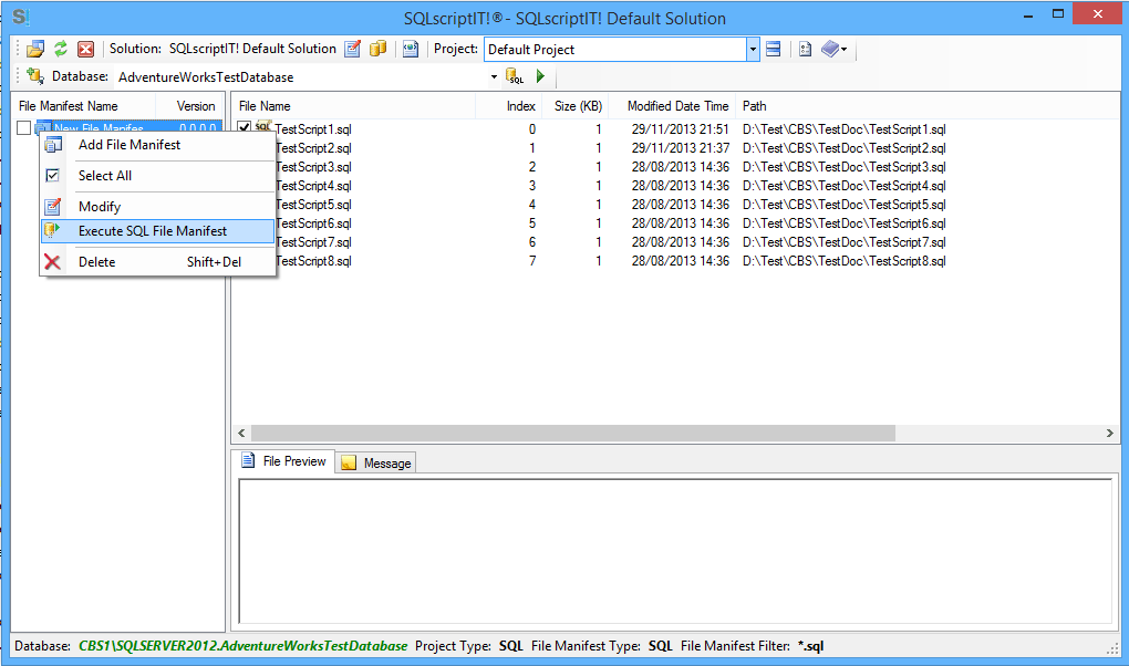 SQLscriptIT