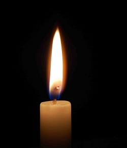 Memorial candle for Dean Peery Agee (Louisa County Ruritan)