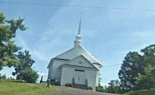 Monticello VA Ruritan Meeting location (Baptist Church) (photo Google Earth)