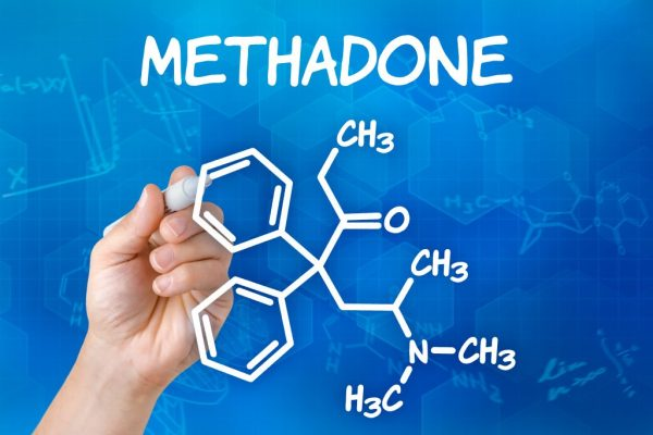Methadon molecular structure with the word methadone written on top