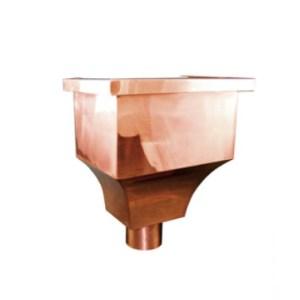 """Da Vinci Copper Leaderhead w/ 4"""" Round Outlet"""