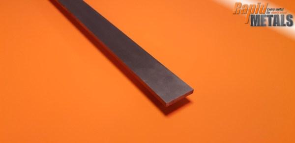 Bright Mild Steel (080a15) Flat 25.4mm x 12.7mm