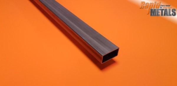 """Mild Steel ERW Box 1"""" x 1/2"""" x 1.6mm Wall"""