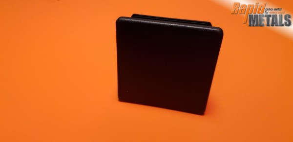 Plastic End Cap Square 25.4mm x 3.2mm Wall