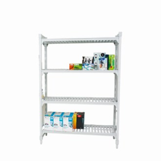 Cambro Shelving with 4 Ventilated Shelves 1800h x 1200w   Rapid Cambro Shelving  1800h x 1200w  With 4 Ventilated Shelves
