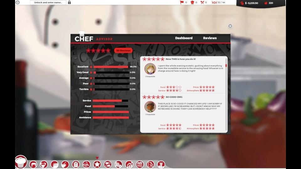 Chef: A Restaurant Tycoon Game Steam