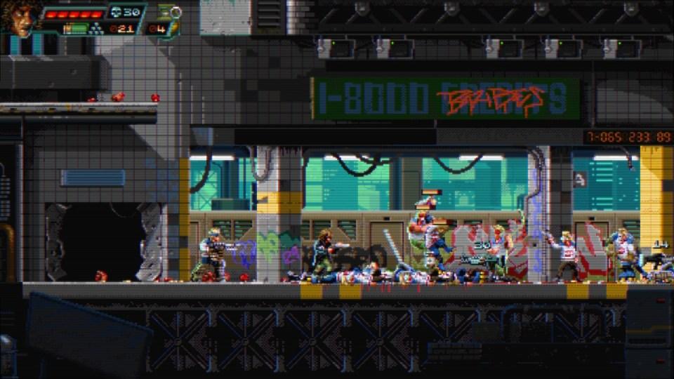 Huntdown gameplay