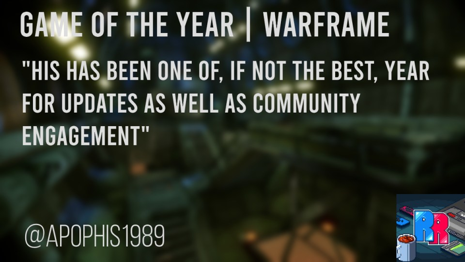 game of the year warframe