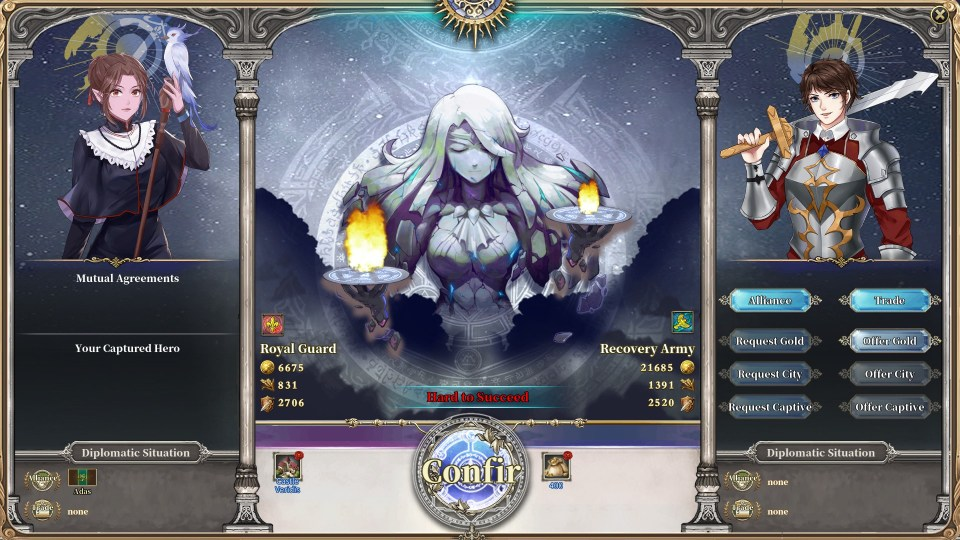 Trade Screen in The Heroic Legend of Eagarlnia