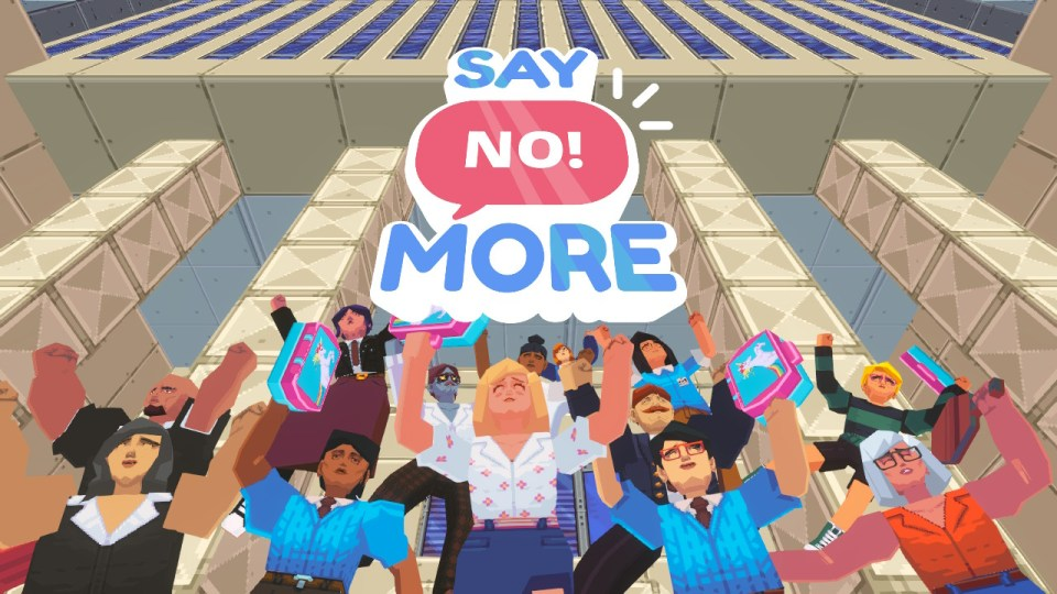 The end title screen for Say No! More