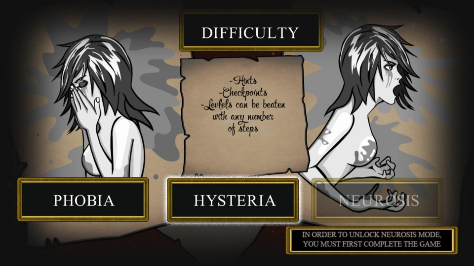 The difficulty settings in Reflection of Mine