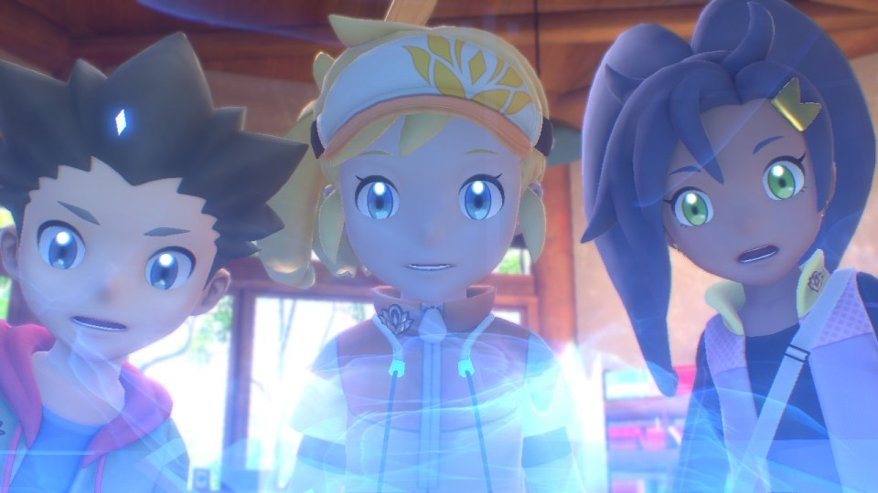 The main character, Phil, and Rita stare shocked at a hologram.