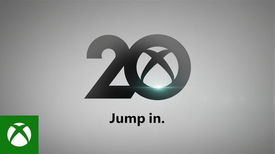 A graphic of the number 20 featuring the Xbox logo inside the '0' with 'Jump in' written underneath