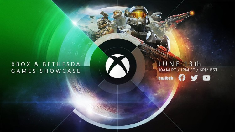 A promotional graphic for the Xbox & Bethesda Games Showcase