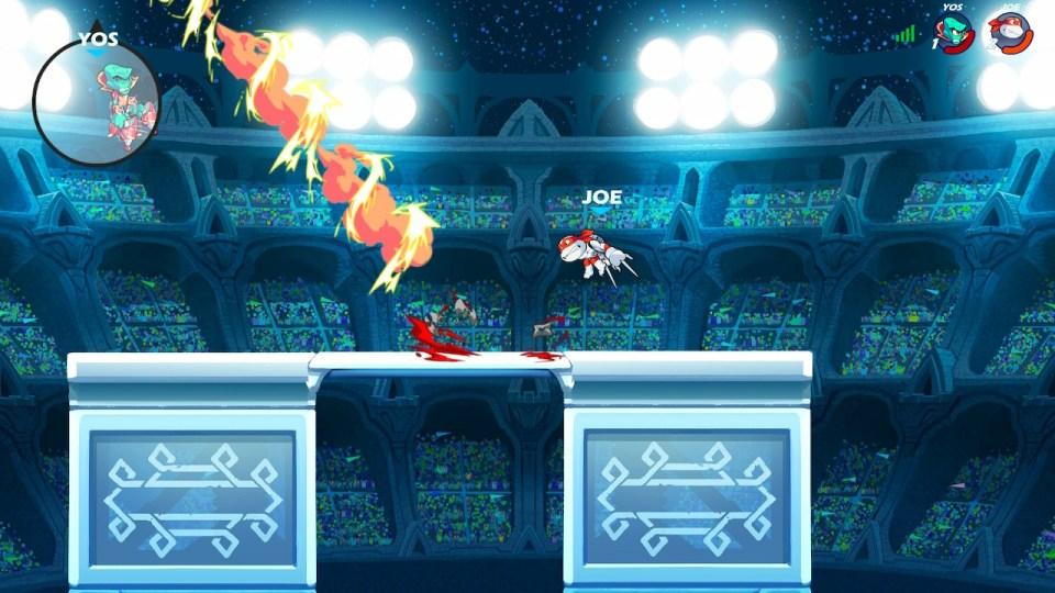 Lord Vraxx seen in the Magnifier off screen because of ninja stars Raphael threw.