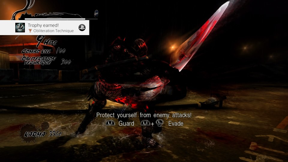 Ryu slashing through an enemy with a brutality-like obliteration technique.